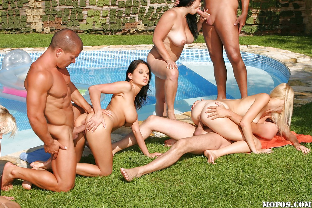 Japanese Pool Orgy Gets Out Of Control